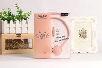 Discount headphones colored earphones Cute Cat Colored Stereo Pink Headset stereo Earphones Music Headphone With Mic For Xiaomi mp3 Kids Student Birthday Gift