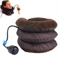 hava cihazları toptan satış-Hava Servikal Boyun Çekiş Yumuşak Brace Cihaz Desteği Servikal Traksiyon Geri Omuz Ağrı kesici Masaj Gevşeme Sağlık