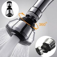 Wholesale tap nozzles - 360 Rotate Swivel Faucet Nozzle Filter Adapter Water Saving Tap Aerator Diffuser Kitchen Faucet Bubbler AAA736