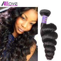 Wholesale human hair weft deep curl resale online - Unprocessed Brazilian Peruvian Indian Malaysian Hair Extensions Kinky Straight Body Loose Deep Curly Afro Curl Hair Weft Human Hair Dyeable
