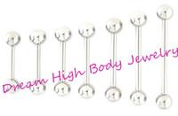 Wholesale nipple barbells resale online - Straight Barbell Tongue Bar Tongue Ring Nipple Piercing Eyebrow Tregus mm mm mm mm Length Ear Stud Fancy Body Jewelry