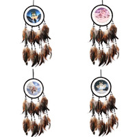 Wholesale car styling china for sale - Indian Style Wall Hanging Dream Catcher Oil Painting Wolf Totem Manual Weave Home Furnishing Garden Vehicle Pendant Arts Crafts Gifts ms bb