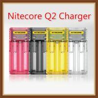ingrosso caricabatterie 2a-Caricabatterie rapido originale Nitecore Q2 2-Slot 2A Intellicharger Caricabatterie universale E Cig per 18650 26650 20700 IMR Li-ion 100% autentico