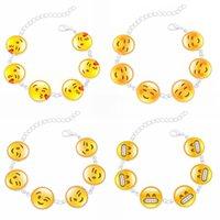 lustige geschenke geben verschiffen frei großhandel-13 Art-nette lustige Emoji Charme-Armband-Frauen-Art- und Weiseschmucksache-Silber-Armband-Armband-kreatives Geschenk-freies Verschiffen D597S