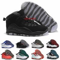 мужские баскетбольные кроссовки оптовых-Распродажа 10 Баскетбольные кроссовки Женская мужская обувь 10s X Man Спорт на открытом воздухе со скидкой из натуральной кожи Настоящие аутентичные кроссовки
