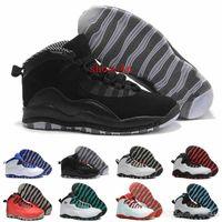 desconto esportes ao ar livre venda por atacado-Venda 10 Sapatas de Basquete Das Mulheres Dos Homens s Sapatos 10 s X Homem Esporte Ao Ar Livre Desconto Superfície De Couro Sapatilhas Autênticas Reais