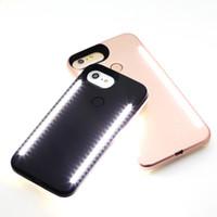 caisse de puissance pour samsung achat en gros de-Remplissez la lumière Selfie LED Light téléphone cas téléphone Double cas de batterie légère pour iphone X 8 7 7s samsung S9 plus avec le logo banque