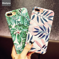 Wholesale iphone6s plus phones online - Fashion Artistic Leaf Phone Case For iPhone S Plus X frosted Hard Bags For iPhone6S X leaves Back Cover Funda Shell
