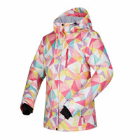 лыжная одежда женщина оптовых- Winter Ski Jackets Women Outdoor Thermal Waterproof Snowboard Jackets Climbing Snow Skiing Clothes Outdoor Snow Sport Wear