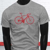 camisas de color gris al por mayor-Bike Life Wheels Ruedas de bicicleta Red Biker Track Camiseta gris para hombre Camiseta de manga corta Tallas grandes Camiseta de color Camiseta estampada