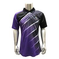 camisas de golf de diseño al por mayor-Camisa de manga corta de golf de alta calidad camisa de golf al aire libre de los hombres camiseta de manga corta de golf personalizada a su diseño