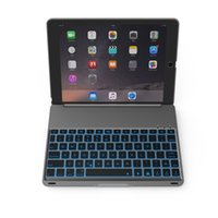 alumínio do carrinho do ipad venda por atacado-Sem fio Bluetooth Teclado Ultra Slim de Alumínio Teclado Sem Fio Bluetooth Carrying Stand Case Capa para Apple iPad Air 2