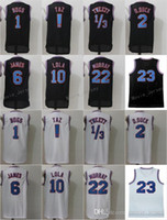 Wholesale michael movies - Space Jam Jersey Movie Tune Squad Looney Daffy Duck Bill Murray Lola Bugs Bunny TAZ Tweety Michael LeBron James Basketball Curry Black White