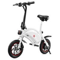 rodas de bicicleta de 12 polegadas venda por atacado-F-roda DYU D1 12 polegadas Rodas 10Ah Inteligente Dobrável Bicicleta Elétrica / Powerfull scooter (Versão Deluxe)