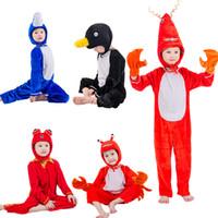 trajes de mascote para crianças venda por atacado-JinXuan Pinguim Golfinho Camarão Caranguejo Peixe Peixe Dourado Água Do Mar Crianças Adulto Animal Traje Animal Macacão Stage Show mascote Do Partido