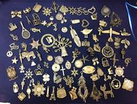 materiais modelo diy venda por atacado-DIY materiais artesanais antigo Acessórios pequeno Atacado 96 Modelos Mix colar pulseira pingentes Suporte FBA transporte da gota G996F