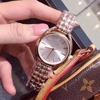 Wholesale japan water resistant watch - New model Stainless steel Rose gold Watch japan move quartz lady women wrist watch free shipping Famous vogue fashion wristwatch