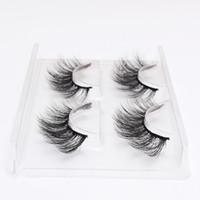 moda cílios venda por atacado-2 Pares / Conjunto de Cílios 3D Cílios Falsos Maquiagem Dos Olhos Natural Longo Grosso Extensão Dos Cílios Hot Moda 12 Estilos Handmade Lashes Eye