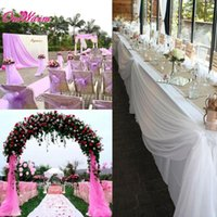 ingrosso tulle per decorazioni da sedia-Tulle Decoration Wedding Party Supplies Organza Sheer Fabric Swags Sedie Mariage 10 * 1 .5m