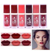 Wholesale red lips resale online - HABIBI BEAUTY Makeup Lipstick Set Lasting Moisture Matte Lip Gloss Set Red Matte Liquid Lipstick Lip Brand Mat Lipstick Kit
