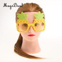 ananas sonnenbrille großhandel-Tropische Ananas Sonnenbrille Hawaiian Luau Sommer Strand Party Brille Kinder Erwachsene Kostüm Zubehör