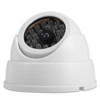 Wholesale ip night vision surveillance systems for sale - Realistic Dummy Surveillance Security Fisheye Camera with Flashing LED Light fake Night Vision Surveillance Systems CCTV IP Dome camera