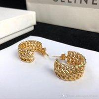 blumenartikel großhandel-Hot Item 18 Karat Reales Gold Überzogene Hohle Blumen Creolen Wives Ohrringe Modeschmuck für Frauen geschenk PS6637A