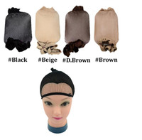 Wholesale Dome Wig Caps - New Weaving Net For Hair One Size Fits All Mesh Net Cap Open End Dome Cap Cool Weaving Cap Hairnets Nylon Wig Caps
