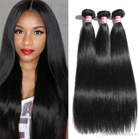 Wholesale remi indian hair - 8A cheap indian virgin hair straight remi weave 1b 100% raw unprocessed extension human hair weave 3 4 pcs lot 100g
