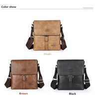 Wholesale Art Messenger Bags - New PU tricolor men's bag business single shoulder bag casual messenger bag outdoor products free shopping