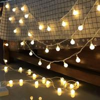 lanternes à cordes rouges achat en gros de-Lampe LED Lantern String Batterie USB Coin Ball Lampe Ciel Star Christmas Lights Lampe Star Net Fille Rouge Coeur Lampe décorative