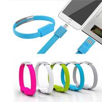 кабель usb для наручных часов оптовых-Micro USB кабель браслет Micro USB Type-C синхронизации данных зарядный кабель для Samsung LG Android телефон высокое качество