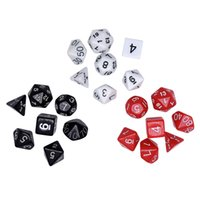Wholesale toys basketball board - Digital Dices Bar Supplies Entertainment Accessories Board Game Dice Decompression Toy Multi Color Hot Sale 3 8sm C R