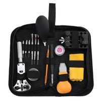teile reparieren großhandel-15 stücke Uhr Repair Tool Kit Armband Opener Uhrmacher Schraubendreher Set Uhr Repair Tool Kit Uhrmacher Werkzeuge Teile