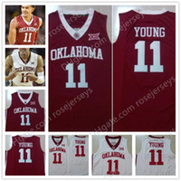 Wholesale Free Games Ships - 2018 NEW Oklahoma Sooners #11 Trae Young Red White Stitched NCAA College Basketball Game Jerseys S-XXXL Hot Sale Free Shipping