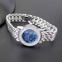 relógio de marca prata venda por atacado-Relógio de luxo designer de prata esterlina 925 relógios de pulso de zircão marcasite mulheres de prata thai relógios marca de quartzo simples do vintage (destacável)