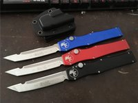 """Wholesale Tactical Survival Fixed Blade Knives - MT! Custom Microtech Halo V Tanto Knife (4.6"""" Satin) 150-4 Double action Automatic Best Tactical knife Survival gear knives with sheath"""