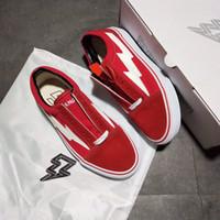 pop up bags Australia - (Send dust Bag) REVENGE x STORM Pop-up Store Casual Shoes Revenge x Storm Women\'s Men\'s Sneakers canvas shoes Skate shoe Old Skool boots
