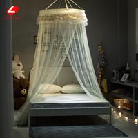 цветочная ошибка оптовых-Home decor Mosquito net Circular Hung Dome 1.5m bed net Princess flower BUG prevent CURTAIN single door bug repeller 60*250*900