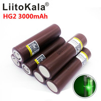 Wholesale rechargeable battery for electronic cigarette for sale - LiitoKala for LG HG2 V mah electronic cigarette Rechargeable battery power high discharge A large current High Power flashlig