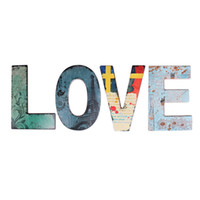 Wholesale wall art wood panels - 27 Capital Letter Wall Decor Vacabuary Retro Wood Posters Pub Home Retro Cinema Bar Nostalgia Mural Painting Art Wooden Wall Decoration .