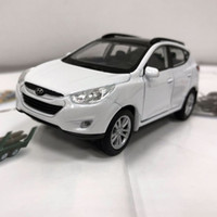 Wholesale hyundai car models online - Brand New WELLY Scale Korea Hyundai Tucson ix35 SUV Diecast Metal Pull Back Car Model Toy For Gift Kids Collection