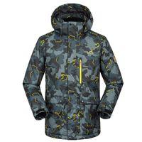 Wholesale big jackets for men - 2018 New FREE Shipping Famous Brand Ski Jacket for Men Waterproof Windproof Snowboard Suit Coat Winter Men Big Yard Jacket