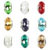 perlas de cristal de murano joyas al por mayor-Envío gratis MOQ 20 unids 925 Plata Colorido Murano Glass Beads Fit Pandora Charm Bracelet Auténtico 925 Joyería diy makeing N107