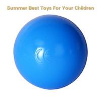 ingrosso giocattolo palla da bagno-100pcs colorato piscina di acqua per bambini giocattoli tenda Ocean Wave palle gioco esterno palla di plastica per bambini divertente giocattolo da bagno swim pit palla sportiva 5.5 cm