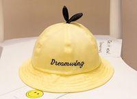 Wholesale children tie dye - yellow Children boys girls caps good quality cotton hats hot selling