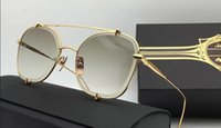 Wholesale Talons Fashion - Top quality talon two 3.0 Titanium brand Sunglasses Gold Plated Retro Big Frame Coating UV400 Lens With Original case
