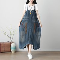 Wholesale jeans rompers for women - Korean Fashion Denim Overalls for Women Plus Size Combishort Jeans Woman 2018 Autumn Winter Jean Femme Rompers Womens Jumpsuit