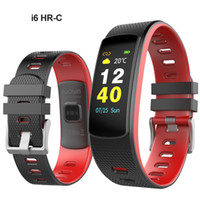 Wholesale i6 wristband for sale – best Original i6 HR C Heart Rate Smart Band Fitness Bracelet Sports Wristband Pedometer Waterproof Activity Tracker with Color Touch Screen