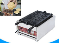 тип осьминогов оптовых-Сакура вафельная машина коммерческий электрический цветок в форме вафельница булочка торт машина сакура яки торт печь LLFA